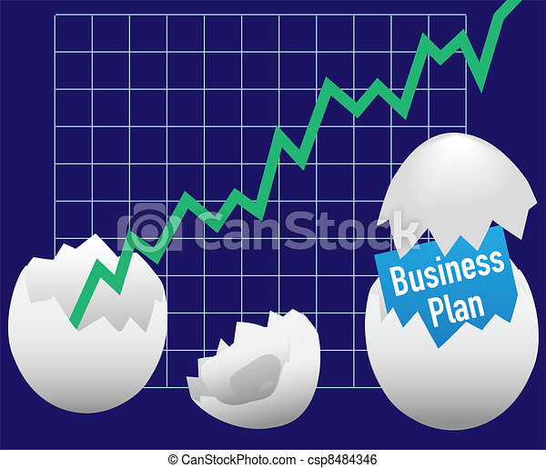 Business startup plan hatch egg growth - csp8484346