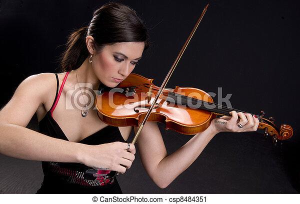 Beautiful Violinist - csp8484351