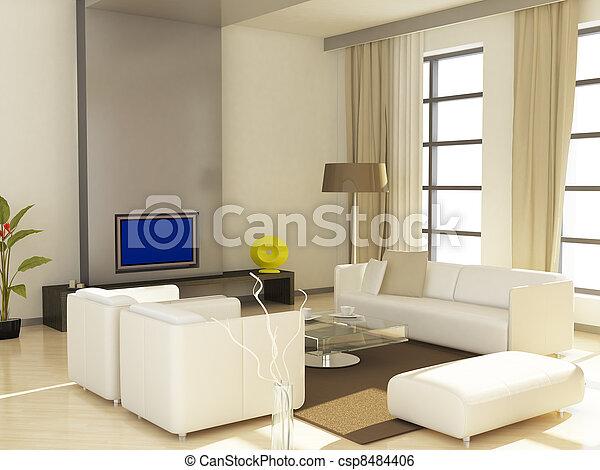 Living room - csp8484406