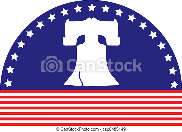 Liberty Bell Flag - csp8485149