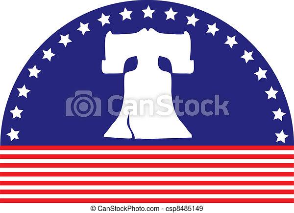 Liberty Bell Flag - csp8485149