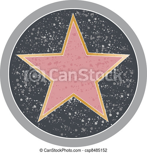 ilustra o vetorial de hollywood estrela   recordativo