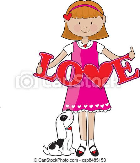 Little Girl Love - csp8485153