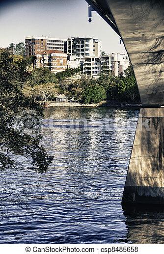 Detail of Brisbane, Queensland - csp8485658