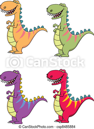 Tyrannosaurus cartoon - csp8485884