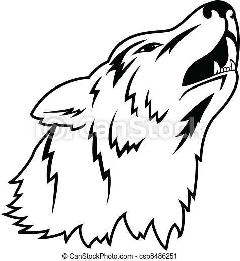 Wolf tattoo - csp8486251