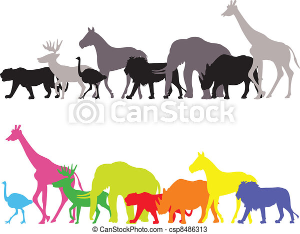 wild animal silhouette - csp8486313