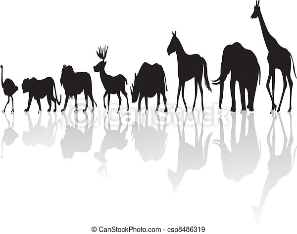 wild animal silhouette - csp8486319
