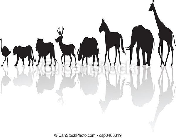 wild animal silhouette - csp8486319