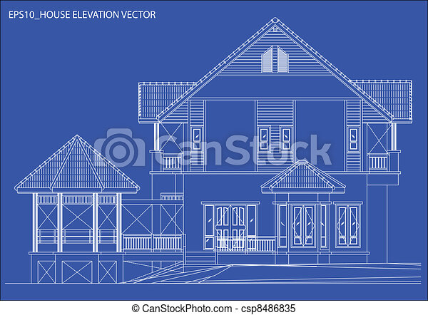 elevation house vector - csp8486835