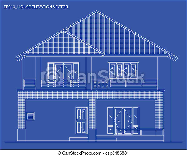 elevation house vector - csp8486881
