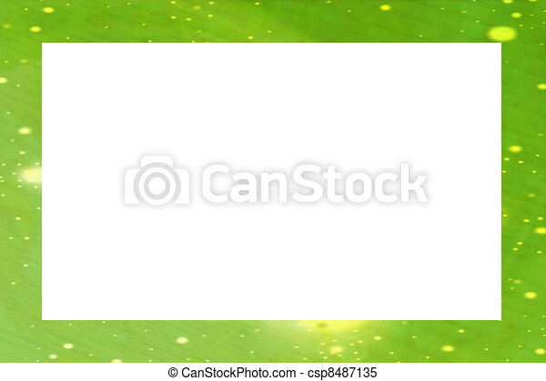 Green abstract frame