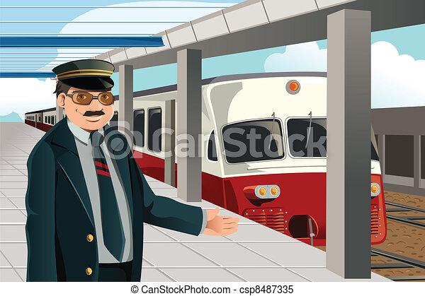 Train conductor - csp8487335