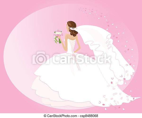 wedding dress - csp8488068