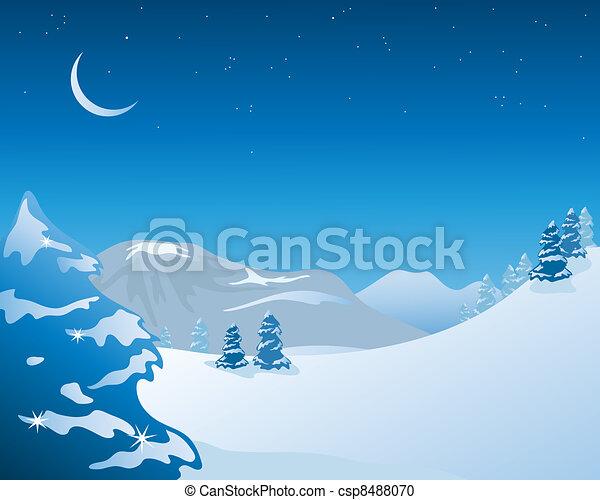 winter scenery - csp8488070