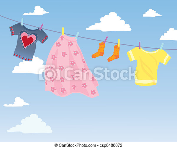 washing line - csp8488072
