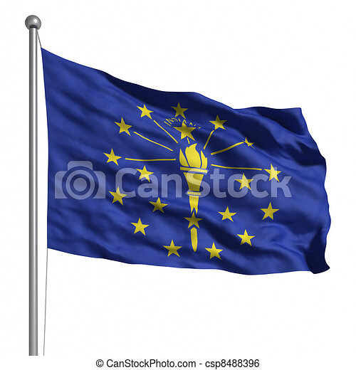 Flag of Indiana - csp8488396