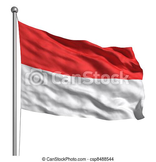 drapeau, de,  Monaco - csp8488544