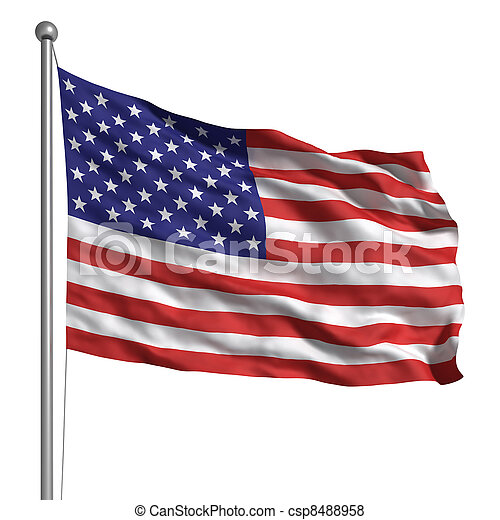 Flag of the United States - csp8488958