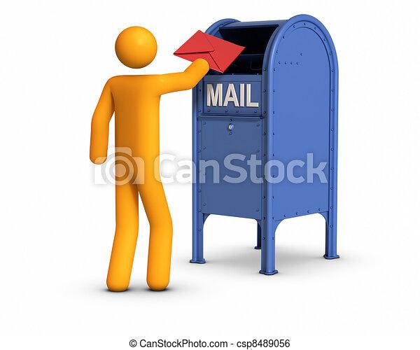 Sending  letter - csp8489056