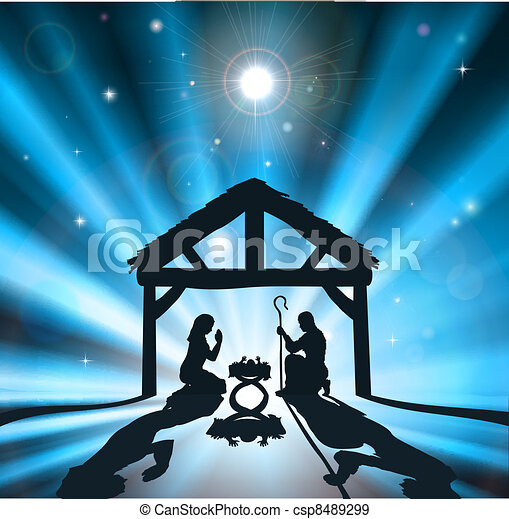 EPS Vector of Traditional Christian Christmas Nativity Scene ...