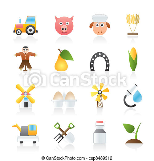 Agriculture and farming icons - csp8489312