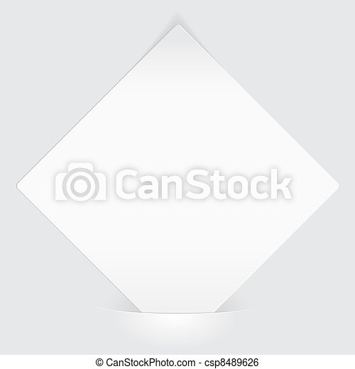 Sheet of white paper mounted in pocket - csp8489626