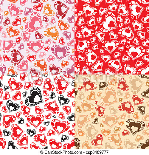 Valentines Day Seamless Pattern - csp8489777
