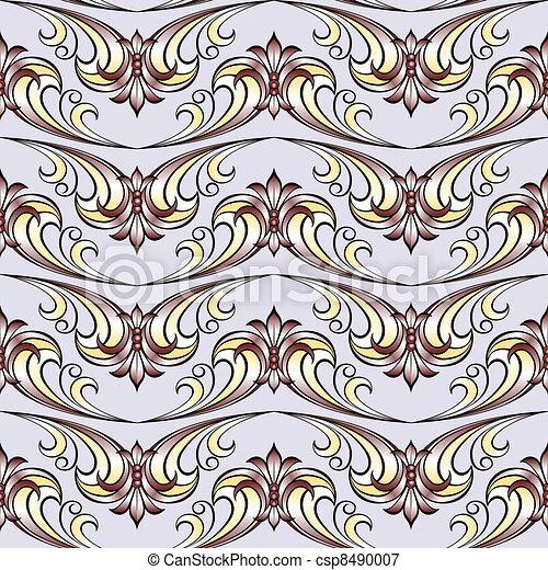 Abstract flora design element. - csp8490007