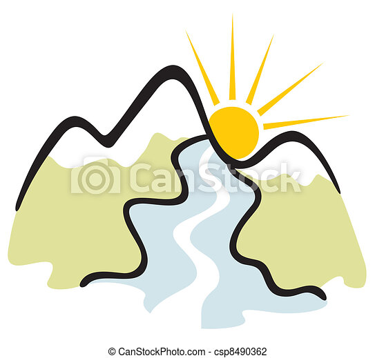 Mountain symbol - csp8490362