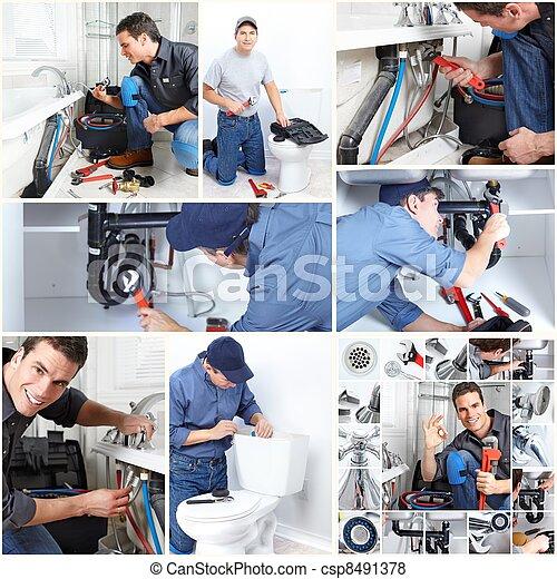 Professional plumber. - csp8491378