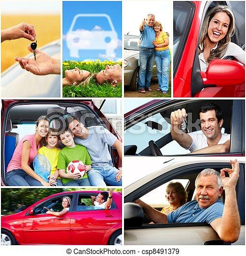 Auto, familie - csp8491379
