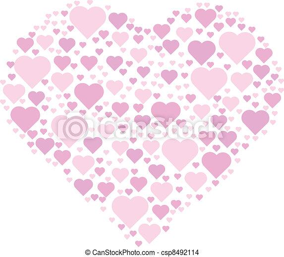hearts making a heart - csp8492114