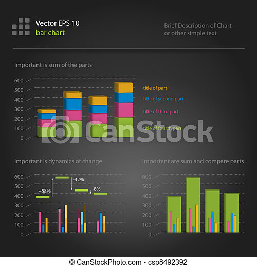 infographics, bar chart - csp8492392
