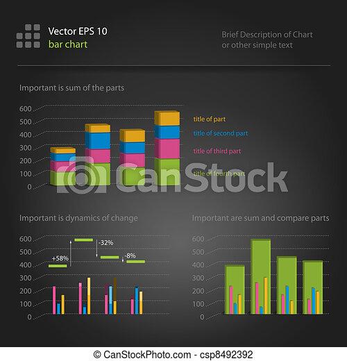 infographics, bar chart - csp8492392