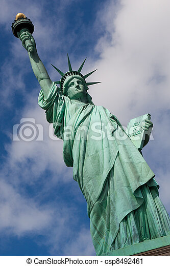 The Statue of Liberty in New York City - csp8492461