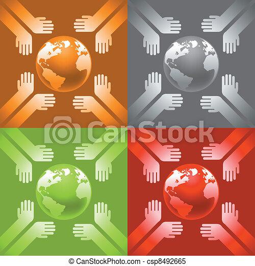 earth in hands - csp8492665