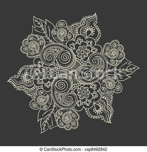 Elegant lace pattern - csp8492842