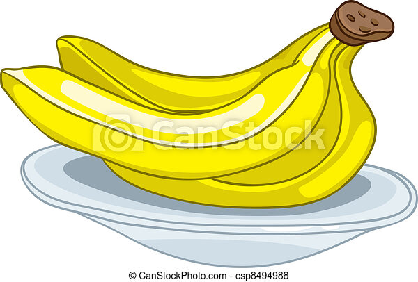 caricatura, plátano - csp8494988