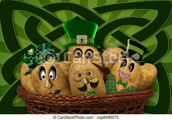 Irish Potatoes - Humor - - csp8495075