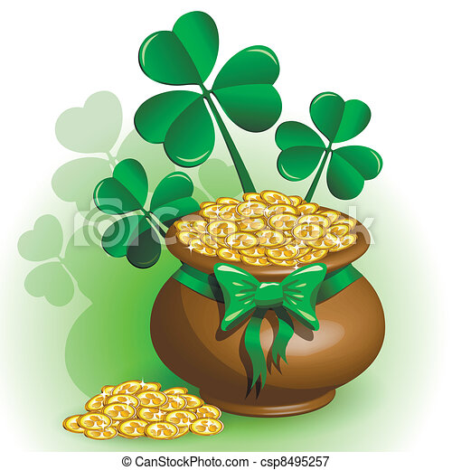 Vectors Illustration Of St Patricks Day Abstract