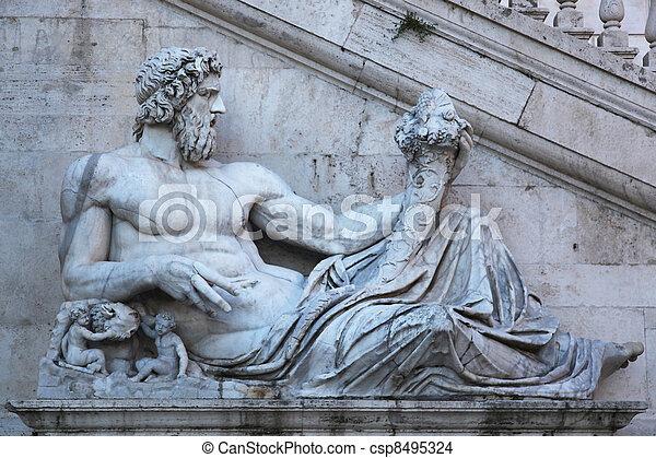 Fountain Senate Palace Rome - csp8495324