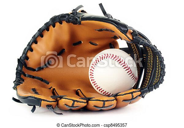 Baseball and glove. - csp8495357