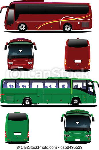 Citybus. Tourist coach. Vector ill - csp8495539