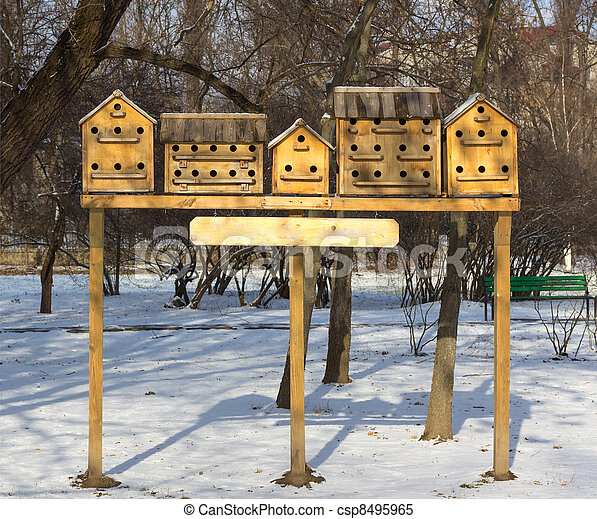 bird houses in the park - csp8495965