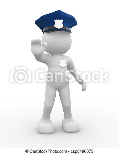 Policeman - csp8496073