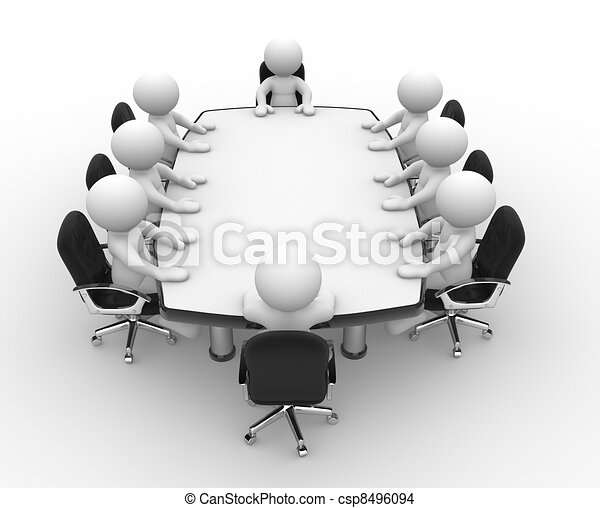 Dessin de conf rence table 3d gens humain for Table 3d dessin