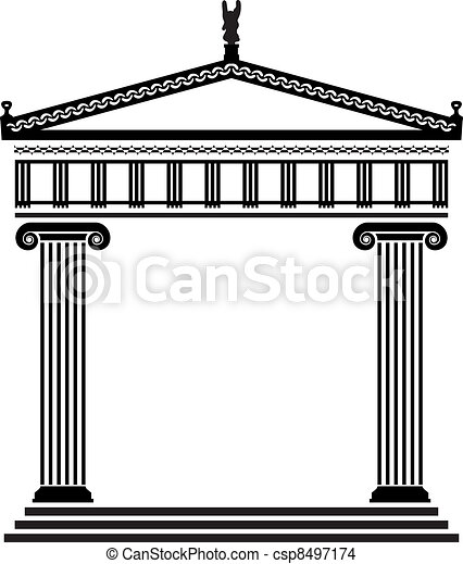 vector ancient greek architecture - csp8497174