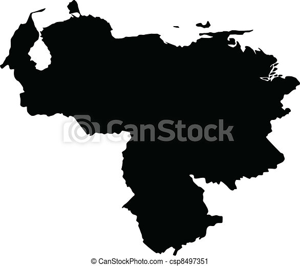 Vector illustration of maps of Venezuela - csp8497351