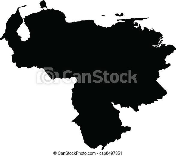 Vector illustration of maps of Venezuela - csp8497351